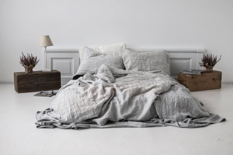 Striped Bed Linen Soft Bedding Set